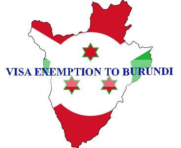 Visa exemption to Burundi