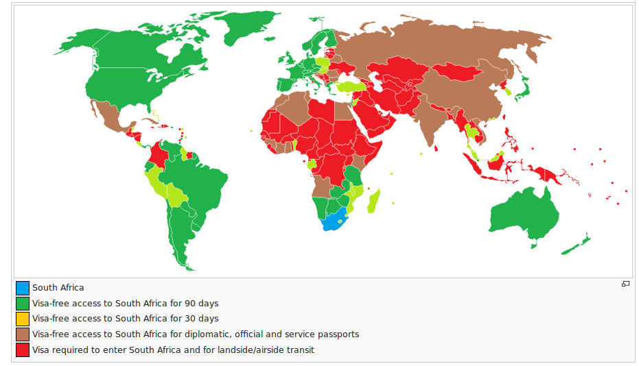 visa exemption to south africa