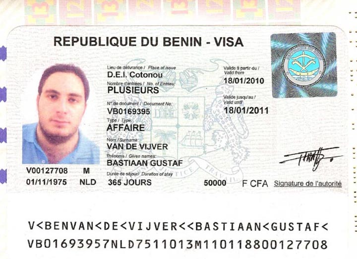 visa to benin for vietnamese and expats in vietnam