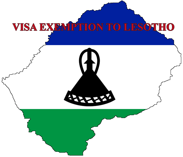 Visa exemption to Lesotho