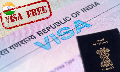 visa exempion to India