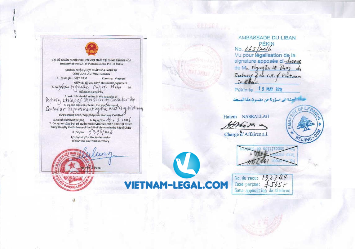 Consular legalization at foreign Embassies and Consulates in Vietnam
