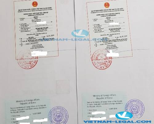Legalization Result of Korean Document for use in Vietnam  July, 2019