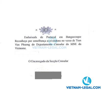Legalization Result of Vietnamese Birth Certificate for use in Portugal