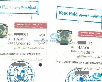 Legalization Result of Vietnamese Birth Certificates for use in Qatar, September 2019