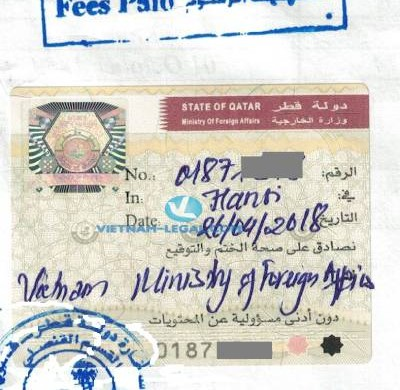 Legalization Result of Vietnamese Marriage Certificates for use in Qatar, April 2019