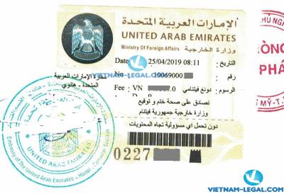 Legalization Result of Vietnamese Birth Certificate for use in United Arab Emirates April, 2019