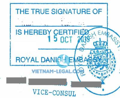 Legalization Result of Court Decisions from Vietnam for use in Denmark, October 2019