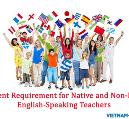 Different requirement for native and non-native English-speaking Teachers