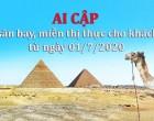 Từ 1/7, Ai Cập mở cửa trở lại các sân bay, miễn thị thực cho khách du lịch